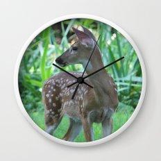 Deer Fawn Wall Clock