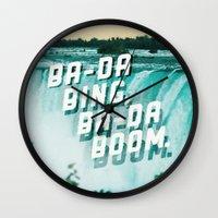 Ba-da Bing, Ba-da Boom. Wall Clock