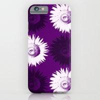 Sunflower black, white and purple iPhone 6 Slim Case
