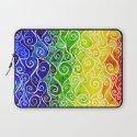 Rainbow Water Waves Laptop Sleeve