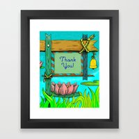 Sign-Post Waterlilies { Thank You version } Framed Art Print