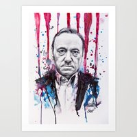 Frank Underwood - House … Art Print