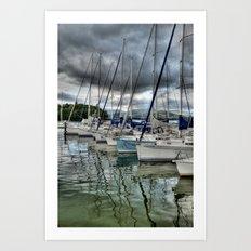 Yachts on Lake Windermere Art Print