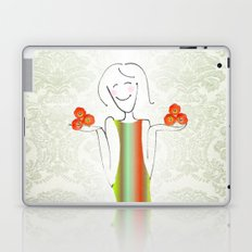 She brings tulips. Laptop & iPad Skin