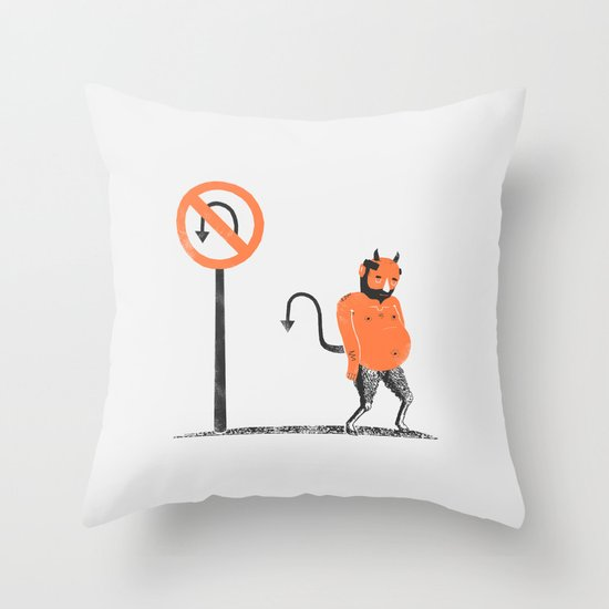 Bummer Throw Pillow
