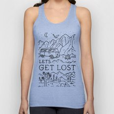 Lets Get Lost (Bw) Unisex Tank Top