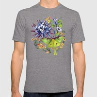 Evening Mens Fitted Tee Tri-Grey SMALL