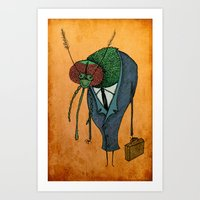 Executive Mosquito Art Print