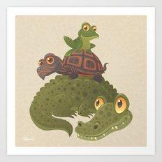 Swamp Squad Art Print