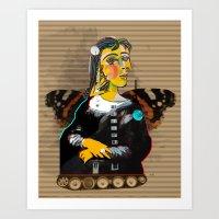 Mona Dora Lisa Maar Coll… Art Print