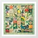Such a wonderful world - Patchwork Art Print