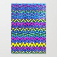 Neon Wave Canvas Print
