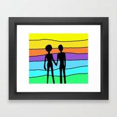 Silhouettes Framed Art Print