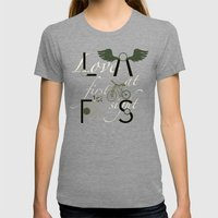 Love At First Sight And … Womens Fitted Tee Tri-Grey SMALL