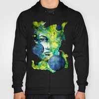 Evelin Green (Set) by carographic watercolor portrait Hoody