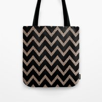 Black And Gold Glitter C… Tote Bag