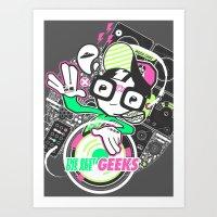 DJ GEEK! Art Print