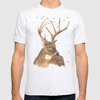Ice Reindeer Mens Fitted Tee Ash Grey SMALL