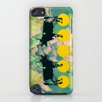 iPod Touch Cases featuring cows are dreaming of funky mountains by AmDuf
