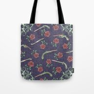 Tote Bag featuring Elegant Guns Knives And … by Paula Belle Flores