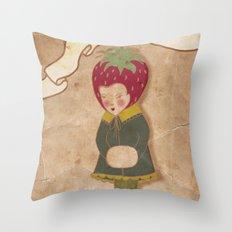 Strawberry head  Throw Pillow