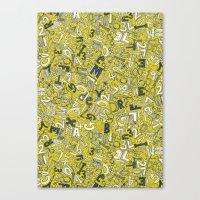A1B2C3 chartreuse Canvas Print
