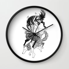 Femme Loup Tattoo Wall Clock