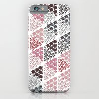 Diamond Floral Pattern iPhone 6 Slim Case