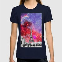 NEBULA VINTAGE PARIS Womens Fitted Tee Navy SMALL