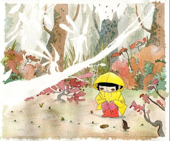 in the rain 1 Art Print