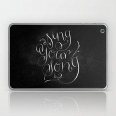 Sing Your Song // White on Black Laptop & iPad Skin