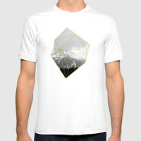Alps Chunk Mens Fitted Tee White SMALL
