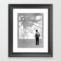404 Framed Art Print