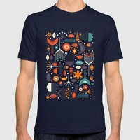 Flora & Fauna Mens Fitted Tee Navy SMALL