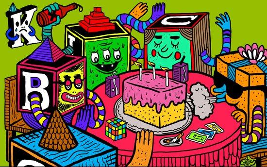 """Block Party"" by Steven Fiche Art Print"