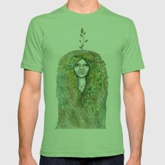 Forest Fairy Mens Fitted Tee Grass SMALL