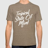 Tropical State Of Mind Mens Fitted Tee Tri-Coffee SMALL