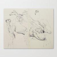 Gator & Giraffe Canvas Print