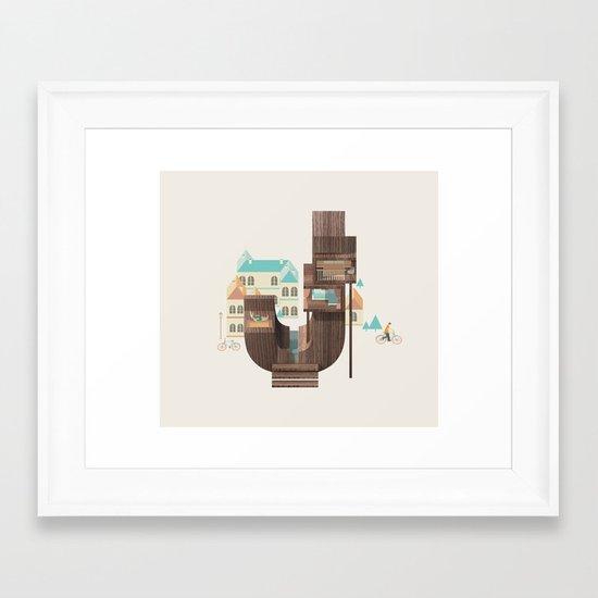 Resort Type - Letter J Framed Art Print