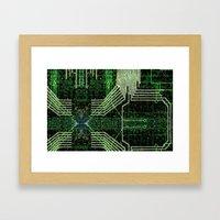 Circuit Board Very Green… Framed Art Print