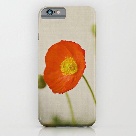 Orange Poppy Bloom Red Green Yellow Flower iPhone & iPod Case