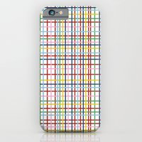 iPhone Cases featuring Rainbow Weave by Project M
