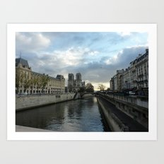Seine & Notre Dame Art Print