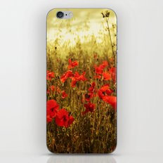 Poppy Glow iPhone & iPod Skin
