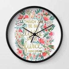 Little & Fierce Wall Clock