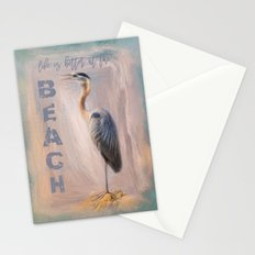 Life Is Better At The Beach - Ocean Bird Art Stationery Cards