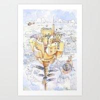 The Flower City Art Print