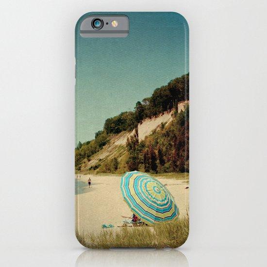 Blue Beach Umbrella iPhone & iPod Case