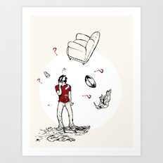 The Breakup Art Print