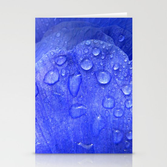 blue petal drops I Stationery Card
